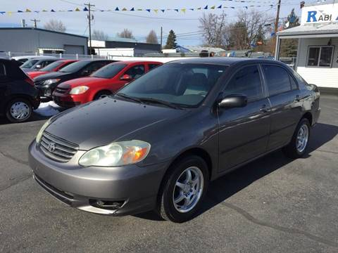 2003 Toyota Corolla for sale at RABI AUTO SALES LLC in Garden City ID