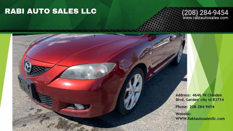 2008 Mazda MAZDA3 for sale at RABI AUTO SALES LLC in Garden City ID