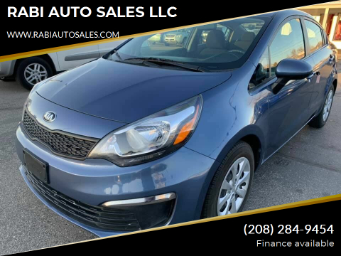 2016 Kia Rio for sale at RABI AUTO SALES LLC in Garden City ID