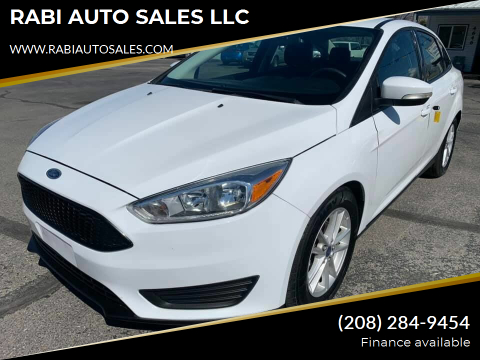 2015 Ford Focus SE for sale at RABI AUTO SALES LLC in Garden City ID