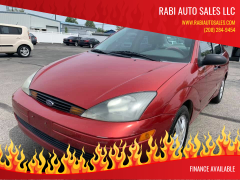 2003 Ford Focus for sale at RABI AUTO SALES LLC in Garden City ID