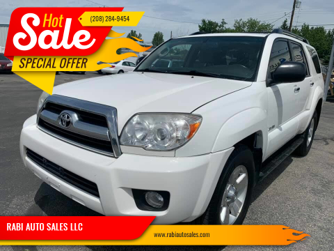 2008 Toyota 4Runner for sale at RABI AUTO SALES LLC in Garden City ID