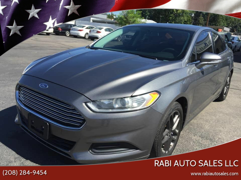 2013 Ford Fusion for sale at RABI AUTO SALES LLC in Garden City ID