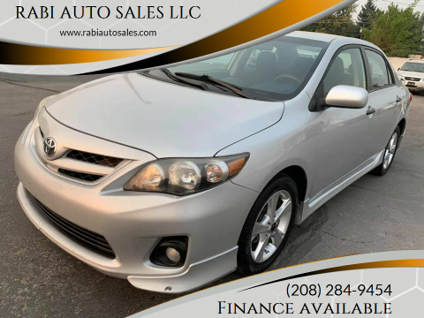2012 Toyota Corolla for sale at RABI AUTO SALES LLC in Garden City ID