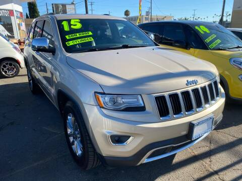 2015 Jeep Grand Cherokee for sale at CAR GENERATION CENTER, INC. in Los Angeles CA