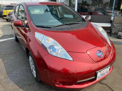 2013 Nissan LEAF for sale at CAR GENERATION CENTER, INC. in Los Angeles CA
