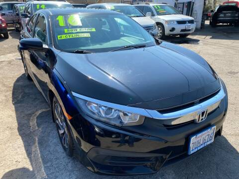 2016 Honda Civic for sale at CAR GENERATION CENTER, INC. in Los Angeles CA