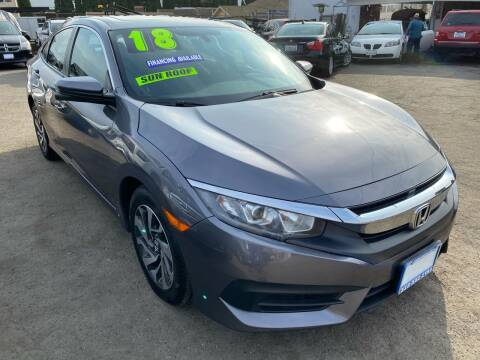 2018 Honda Civic for sale at CAR GENERATION CENTER, INC. in Los Angeles CA