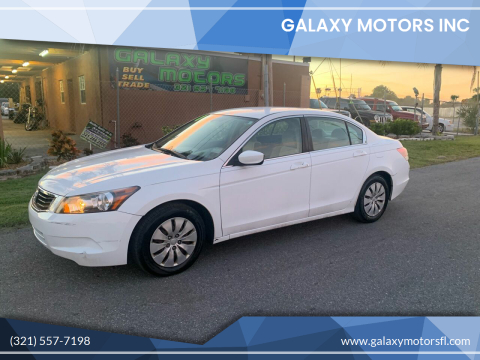 2008 Honda Accord for sale at Galaxy Motors Inc in Melbourne FL