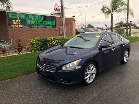 2009 Nissan Maxima 3.5 SV for sale at Galaxy Motors Inc in Melbourne FL
