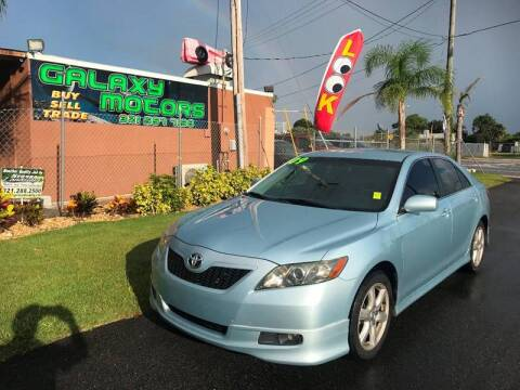 2009 Toyota Camry SE for sale at Galaxy Motors Inc in Melbourne FL