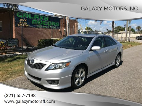 2011 Toyota Camry for sale at Galaxy Motors Inc in Melbourne FL