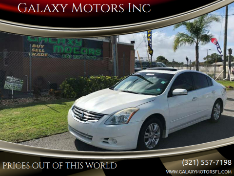 2010 Nissan Altima for sale at Galaxy Motors Inc in Melbourne FL