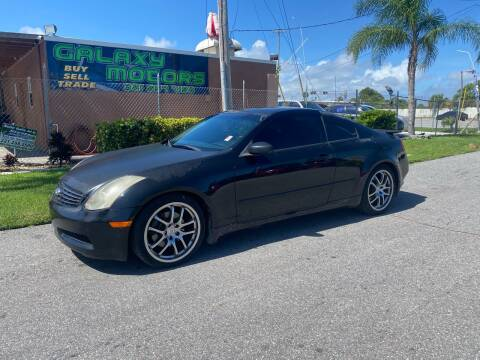 2005 Infiniti G35 for sale at Galaxy Motors Inc in Melbourne FL