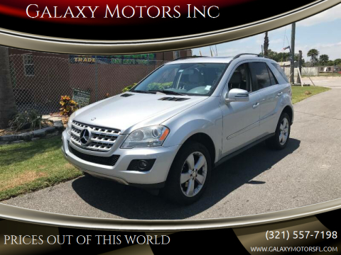 2011 Mercedes-Benz M-Class for sale at Galaxy Motors Inc in Melbourne FL