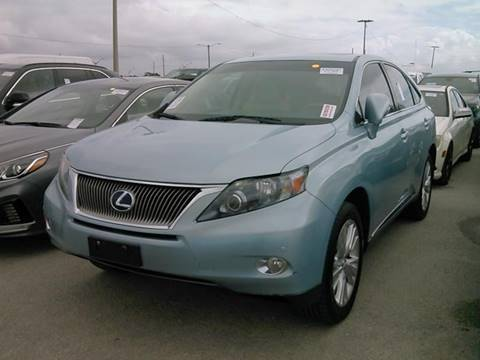 2010 Lexus RX 450h for sale in Hollywood, FL