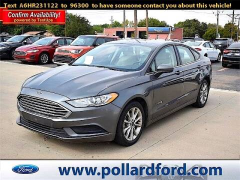 2017 Ford Fusion Hybrid for sale at South Plains Autoplex by RANDY BUCHANAN in Lubbock TX