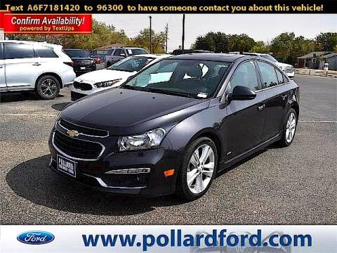 2015 Chevrolet Cruze for sale at South Plains Autoplex by RANDY BUCHANAN in Lubbock TX