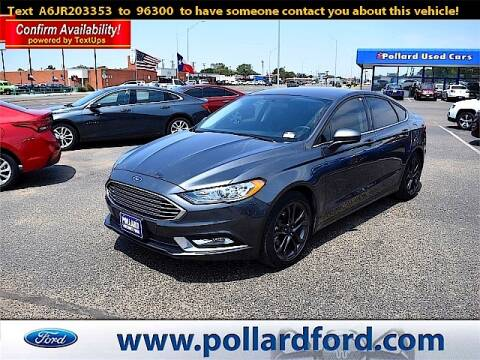 2018 Ford Fusion for sale at South Plains Autoplex by RANDY BUCHANAN in Lubbock TX