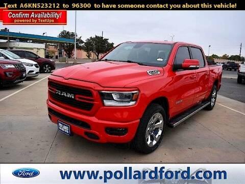 2019 RAM Ram Pickup 1500 for sale at South Plains Autoplex by RANDY BUCHANAN in Lubbock TX