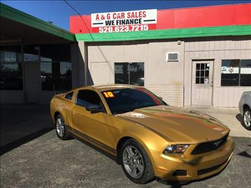 2010 Ford Mustang for sale at A&G Car Sales  LLC in Tucson AZ