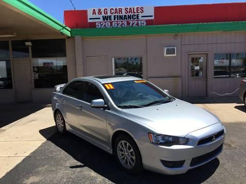 2011 Mitsubishi Lancer for sale at A&G Car Sales  LLC in Tucson AZ