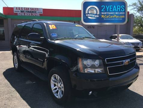 2010 Chevrolet Tahoe for sale at A&G Car Sales  LLC in Tucson AZ