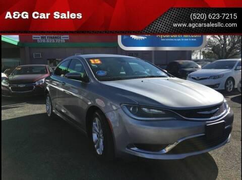 2015 Chrysler 200 for sale at A&G Car Sales  LLC in Tucson AZ