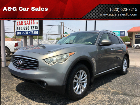 2009 Infiniti FX35 for sale at A&G Car Sales  LLC in Tucson AZ