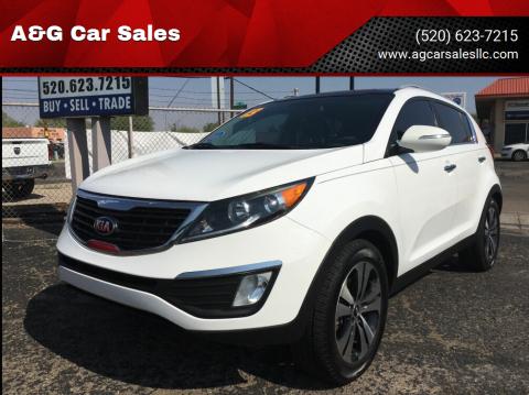 2013 Kia Sportage for sale at A&G Car Sales  LLC in Tucson AZ