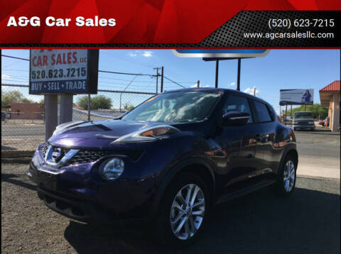 2016 Nissan JUKE for sale at A&G Car Sales  LLC in Tucson AZ