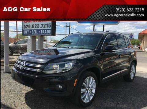 2012 Volkswagen Tiguan for sale at A&G Car Sales  LLC in Tucson AZ