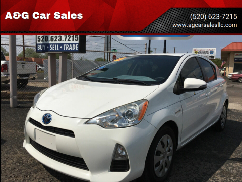 2013 Toyota Prius c for sale at A&G Car Sales  LLC in Tucson AZ