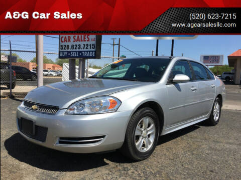 2012 Chevrolet Impala for sale at A&G Car Sales  LLC in Tucson AZ