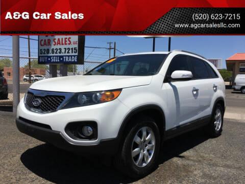 2013 Kia Sorento for sale at A&G Car Sales  LLC in Tucson AZ