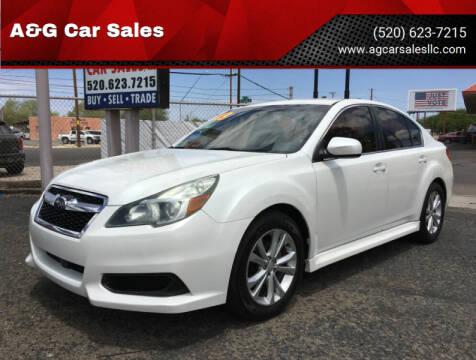 2013 Subaru Legacy for sale at A&G Car Sales  LLC in Tucson AZ