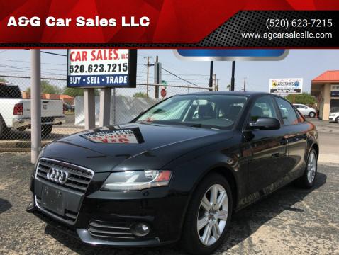 2011 Audi A4 for sale at A&G Car Sales  LLC in Tucson AZ