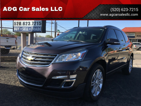 2015 Chevrolet Traverse for sale at A&G Car Sales  LLC in Tucson AZ