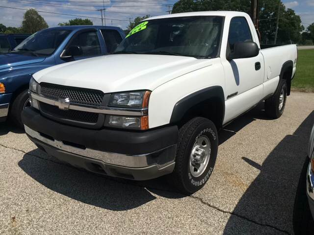2003 Chevrolet Silverado 2500hd 2dr Regular Cab Work Truck 4wd Lb In Michigan City In