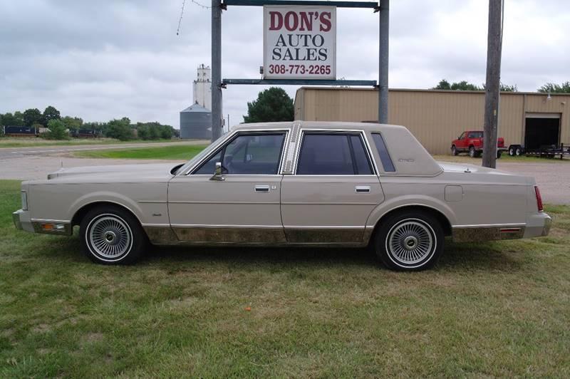 1988 Lincoln Town Car Signature 4dr Sedan In Silver Creek Ne Don S