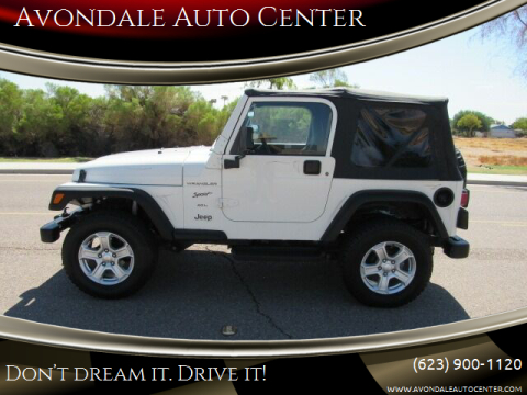 1999 Jeep Wrangler for sale at Avondale Auto Center in Avondale AZ