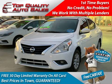 2018 Nissan Versa for sale at Top Quality Auto Sales in Redlands CA