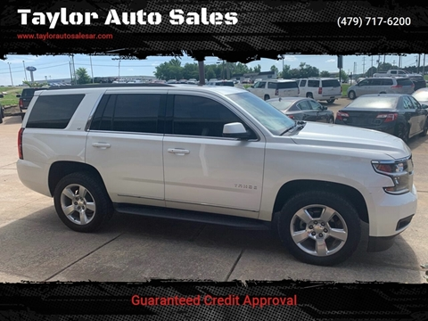 2015 Chevrolet Tahoe for sale at Taylor Auto Sales in Springdale AR