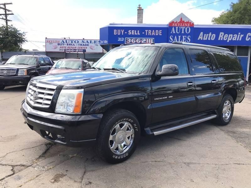 2003 Cadillac Escalade ESV for sale at SKYLINE AUTO in Detroit MI