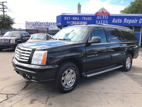 2003 Cadillac Escalade ESV for sale at SKYLINE AUTO in Detroit MI