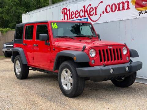 2016 Jeep Wrangler Unlimited for sale at Bleecker Chevrolet in Dunn NC