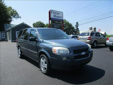 2007 Chevrolet Uplander for sale at Frazer Motors in Canton NY