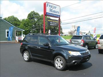 2009 Subaru Forester for sale at Frazer Motors in Canton NY