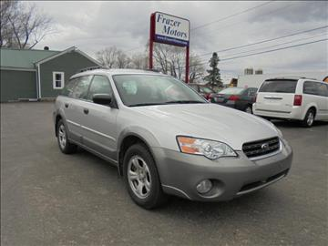 2007 Subaru Outback for sale at Frazer Motors in Canton NY