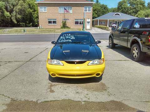 1998 Ford Mustang SVT Cobra for sale at El Rancho Auto Sales in Marshall MN